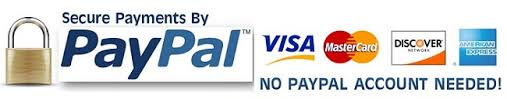 Secure payments with paypal - no account needed