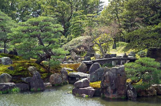 The garden at Nijo Castle in Kyoto, Japan